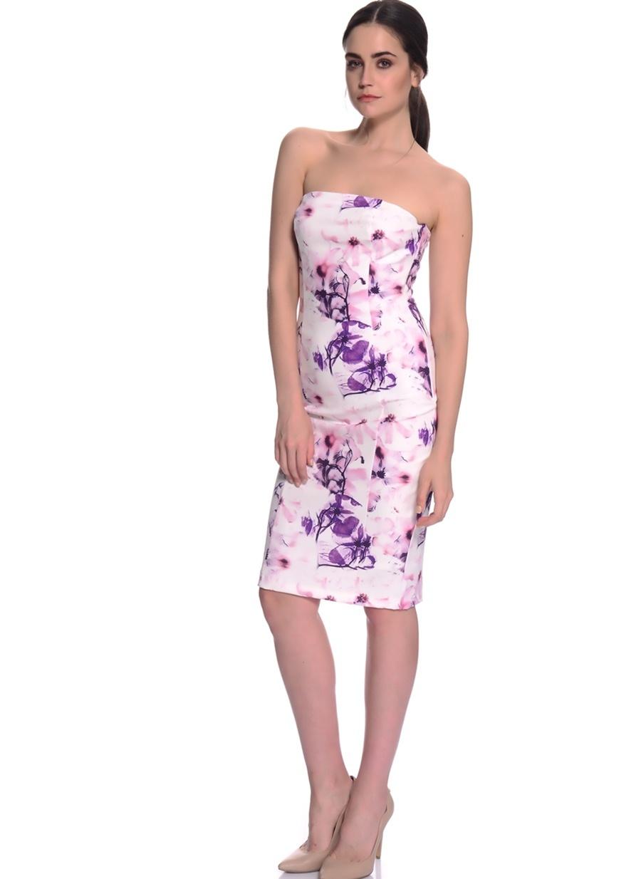 Kadın House Of Camellia Straplez Abiye Elbise